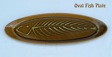Ceramic Oval Fish Plate Made In Maui